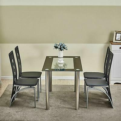 4-Piece Dining Chair w/ 1 Table Dining Set Home Kitchen Brea