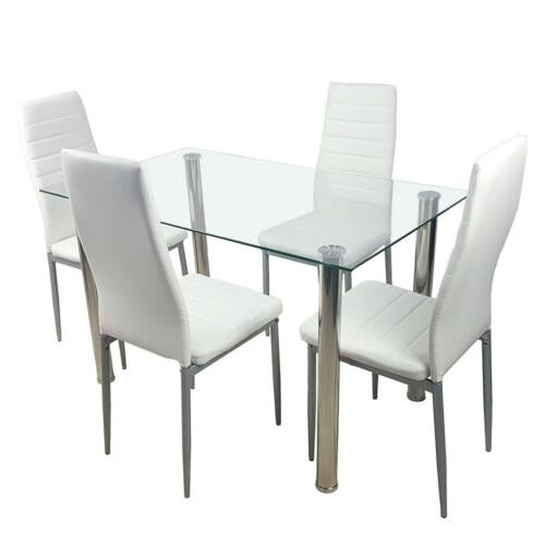 5 WHITE AND 4 DINNING SET