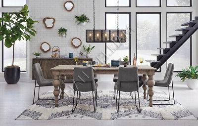 62 natural mindi wood dining table