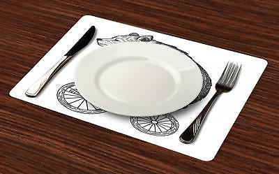 Bicycle Placemats Place Decor