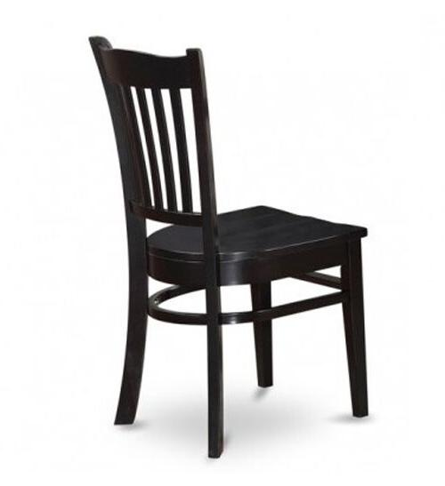 Black Dinning Casual Round Pedastool 4 Furniture