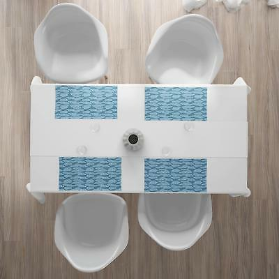 Cloud Set of 4 Ambesonne Washable Place Mats Table