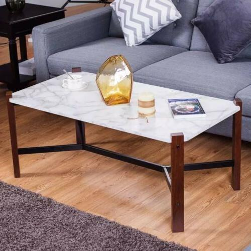 coffee table accent cocktail table white faux