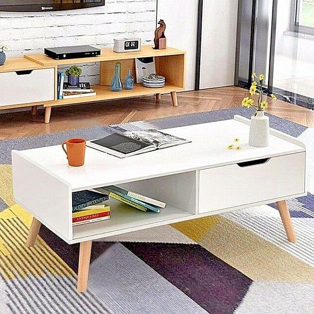 coffee table vintage modern end table white