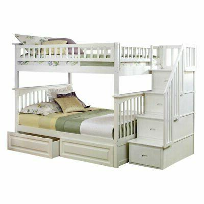 columbia staircase full over full bunk bed