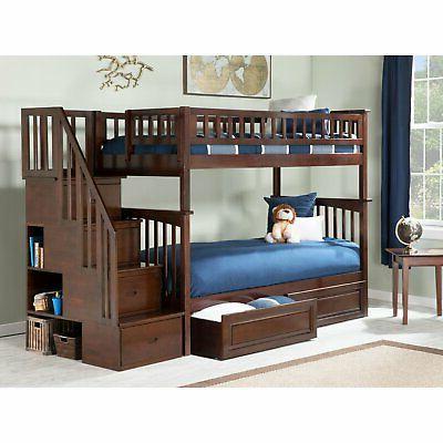 Atlantic Furniture Twin Over Twin Bed