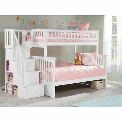 Atlantic Furniture Columbia Twin over Bed