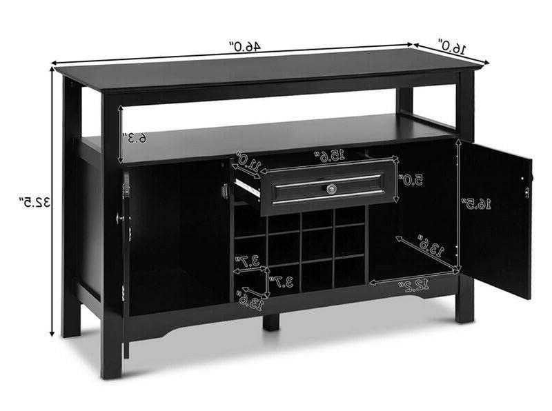 Dining Buffet Server Rack Storage Table