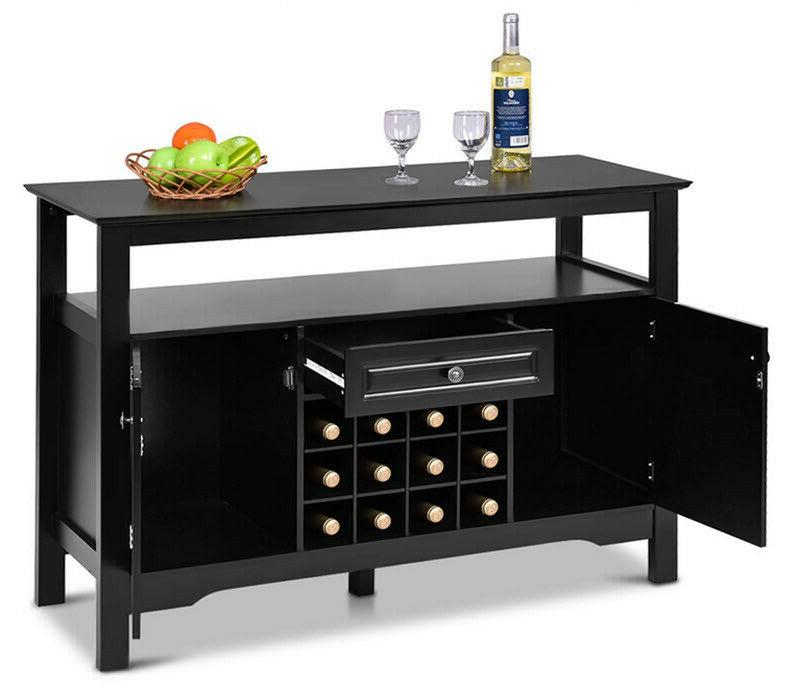 dining buffet cabinet kitchen server wine rack