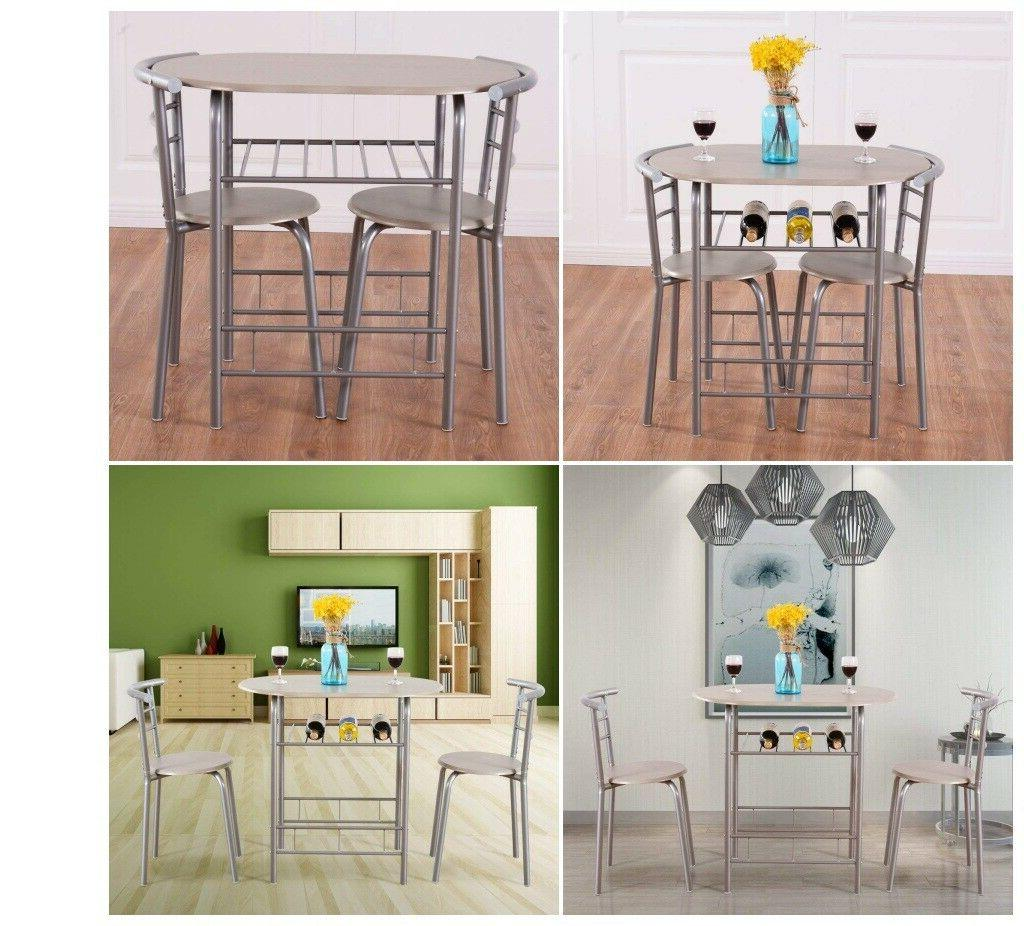 Dining Room Set Oval Table Metal Kitchen With 2 Chair Small