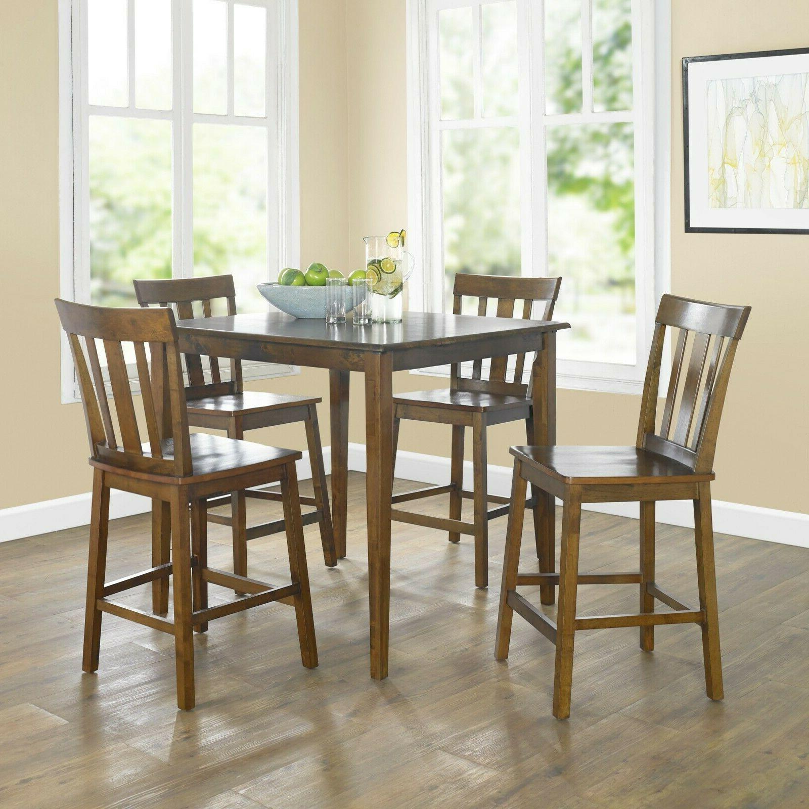 dining room table set small wooden counter