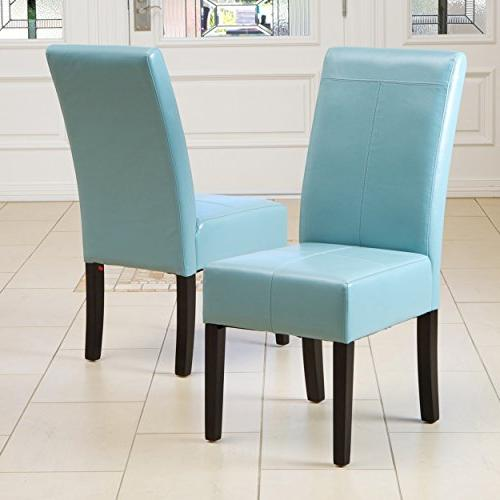 dining room teal blue leather