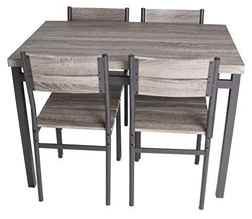 Zenvida Dining Set Kitchen Table Chairs