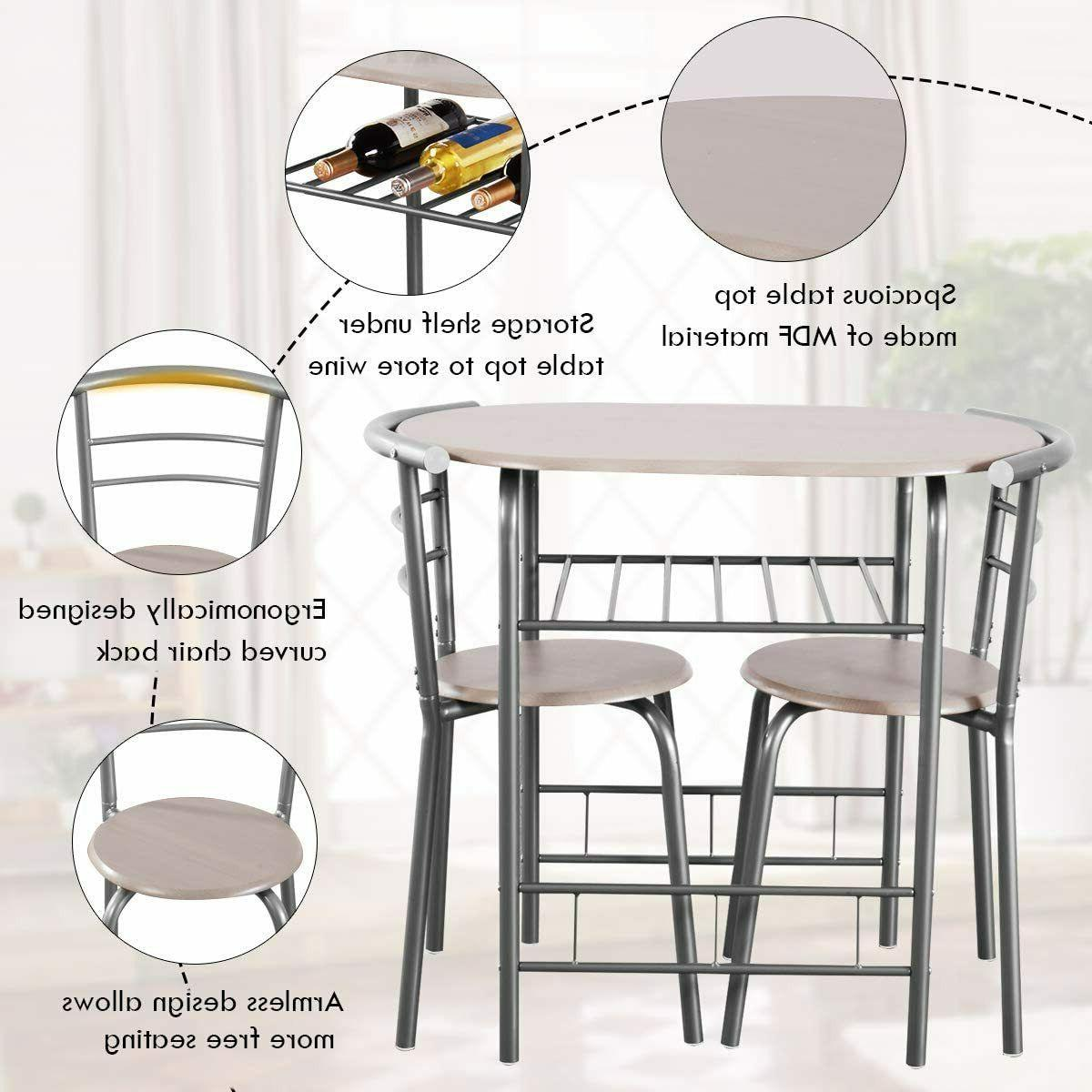 Dining Table 2 Kitchen 3 PCS Bistro