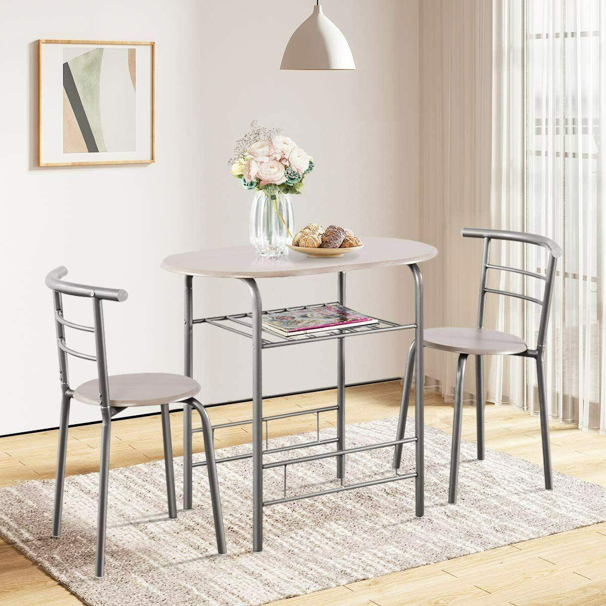 Dining Set and 2 Chairs PCS Bistro Furniture