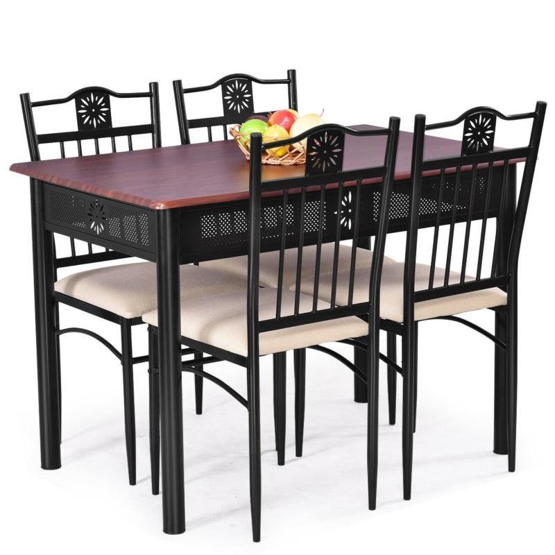 Dining Table for 4 Wood Saver with Cushions