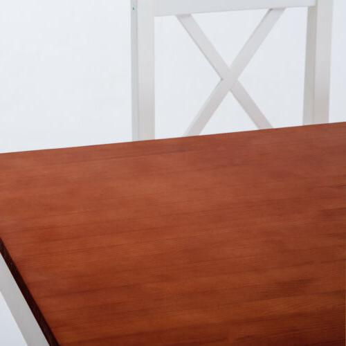 Dining Table 5 with 4 Dinette Chairs Wood