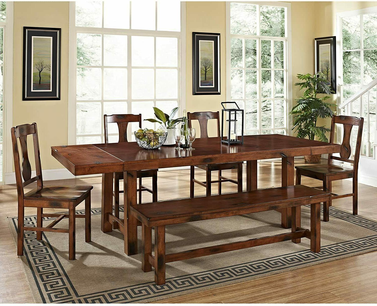 Extra Rustic Wood Expandable Double Tables