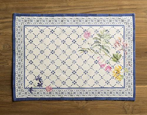 Maison Faience 100% Set 4 Placemats by