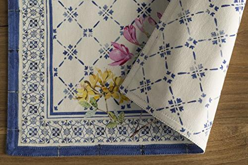 Maison Hermine Faience 100% of 4 Placemats by