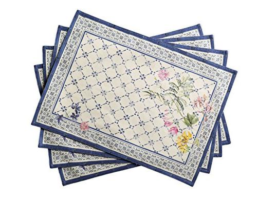 faience cotton placemats inch