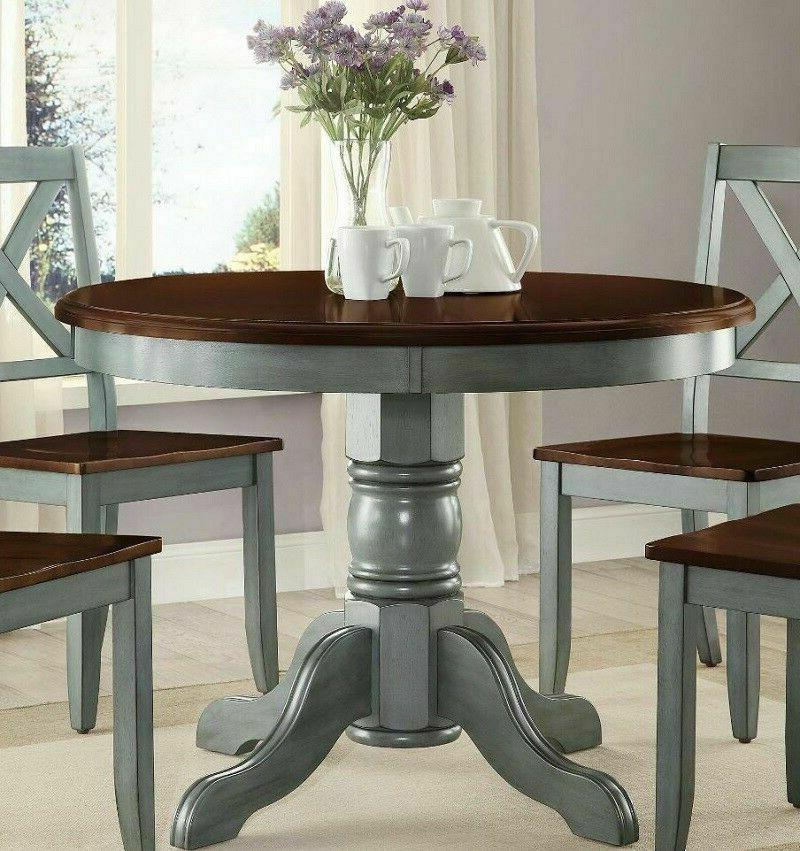 Farmhouse Dining Table Round French Country Kitchen Cottage
