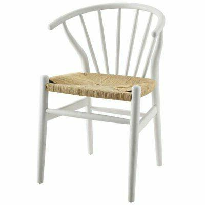 flourish windsor dining side chair in white