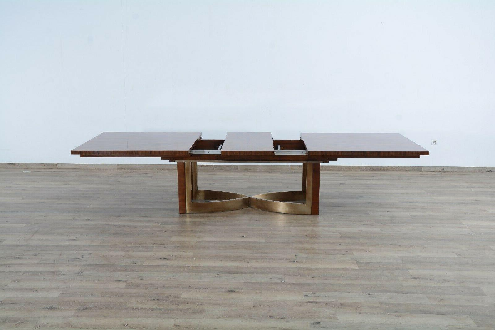 Formal Dining Set Extendable Table Chair Made Mahogany