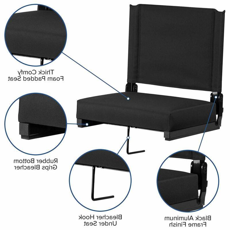 Flash Furniture Seats Stadium Chair By Flash Seat, Bl