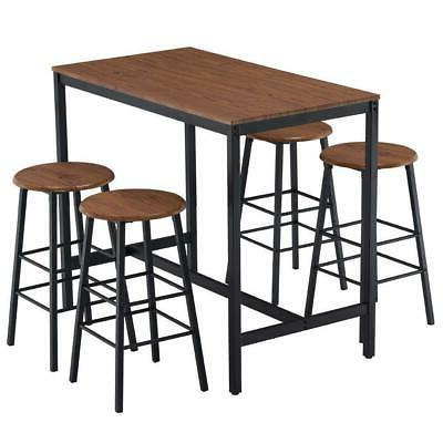 High 5 Dining Table 4 Round Bar Home Room Furniture