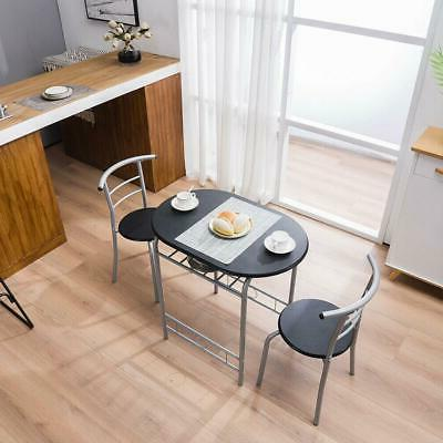 New Dining Kitchen Table Dining Set 3 Piece Metal Frame Bar