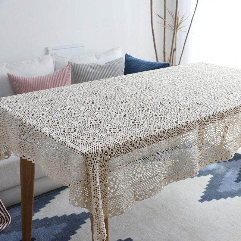 Hollow Decorative <font><b>Table</b></font> Lace <font><b>Dining</b></font> Tafelkleed nappe