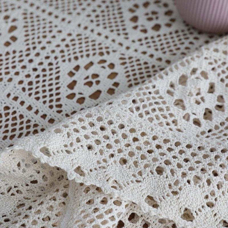 Hollow <font><b>Table</b></font> Lace Tablecloth Rectangular <font><b>Dining</b></font> Tafelkleed mantel mesa