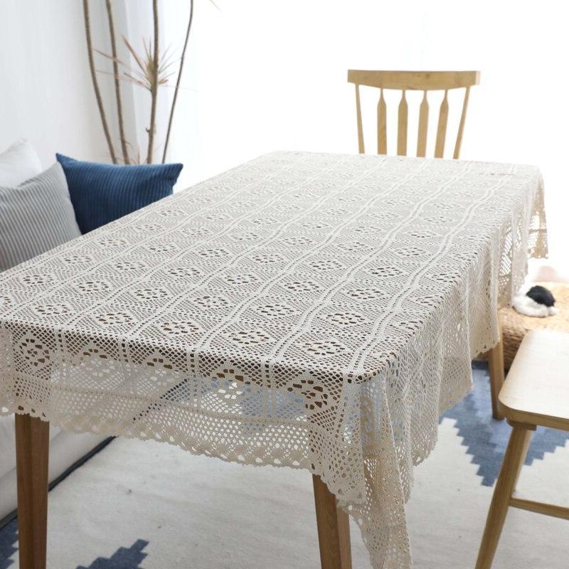 Hollow Decorative Lace Tablecloth Rectangular <font><b>Dining</b></font> <font><b>Table</b></font> Tafelkleed mantel mesa
