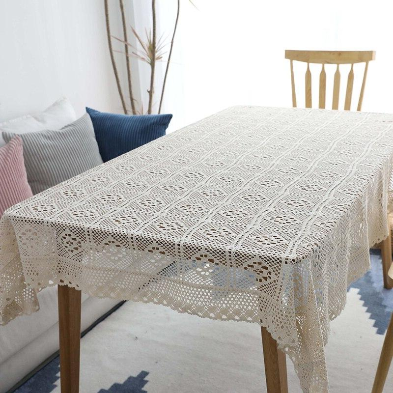 Hollow Lace Tablecloth <font><b>Dining</b></font> <font><b>Table</b></font> Tafelkleed mantel