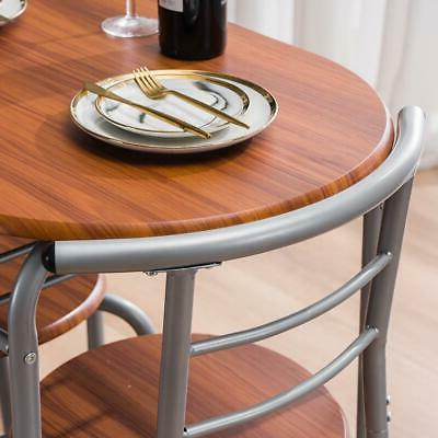 Home Dining Set 2 Chairs Bistro Breakfast Furniture