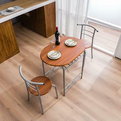 Home Kitchen 3 Dining Set Chairs Bistro Furniture US