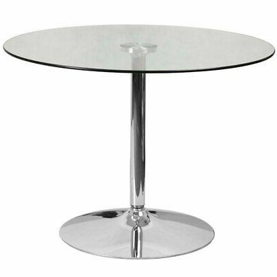 indoor round glass table