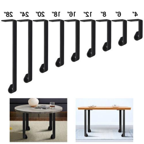 industrial straight coffee table leg set of