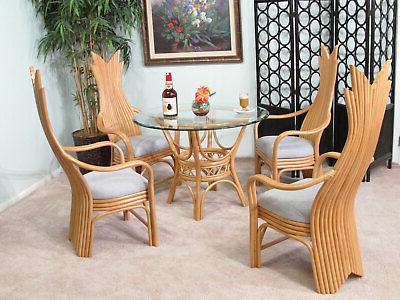 kona rattan dining room furniture 5 piece