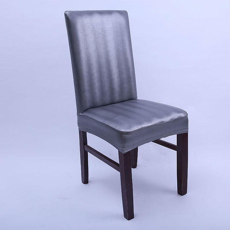 Leather Elastic Chair Home Dining High Covering