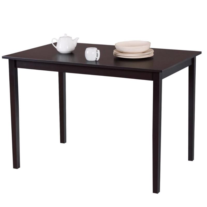 modern rectangle dining table wooden legs kitchen