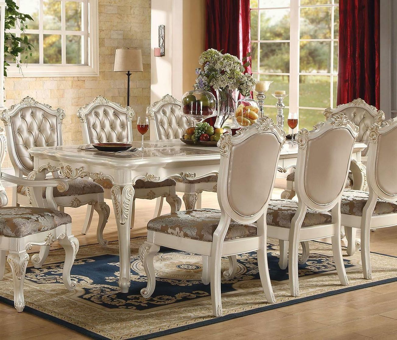 NEW 9PC FORMAL FRENCH FINISH DINING SET