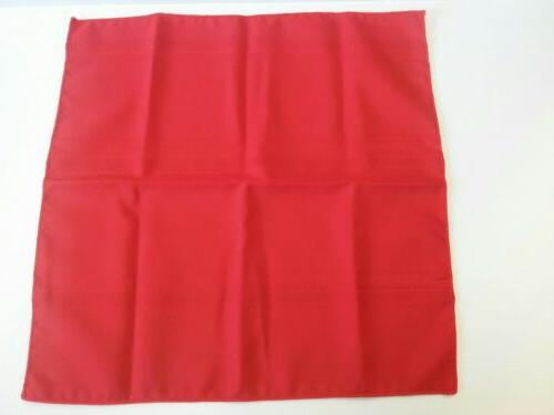 new red placemats square setting dining table