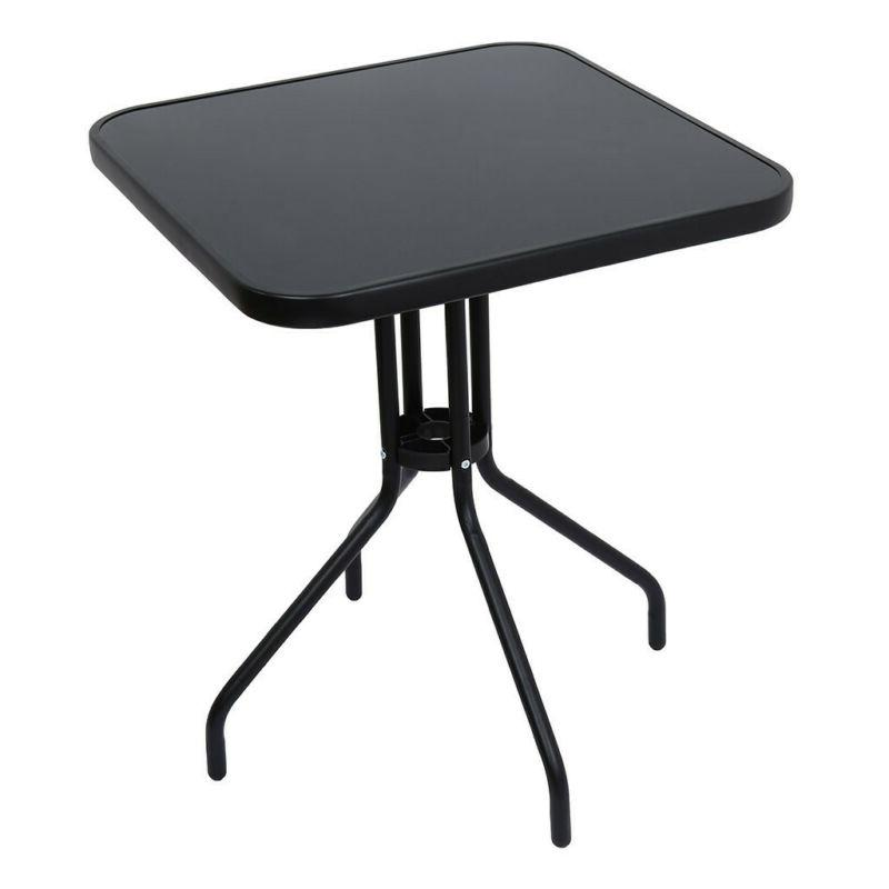 Outdoor Lawn Glass Top Table All Dining
