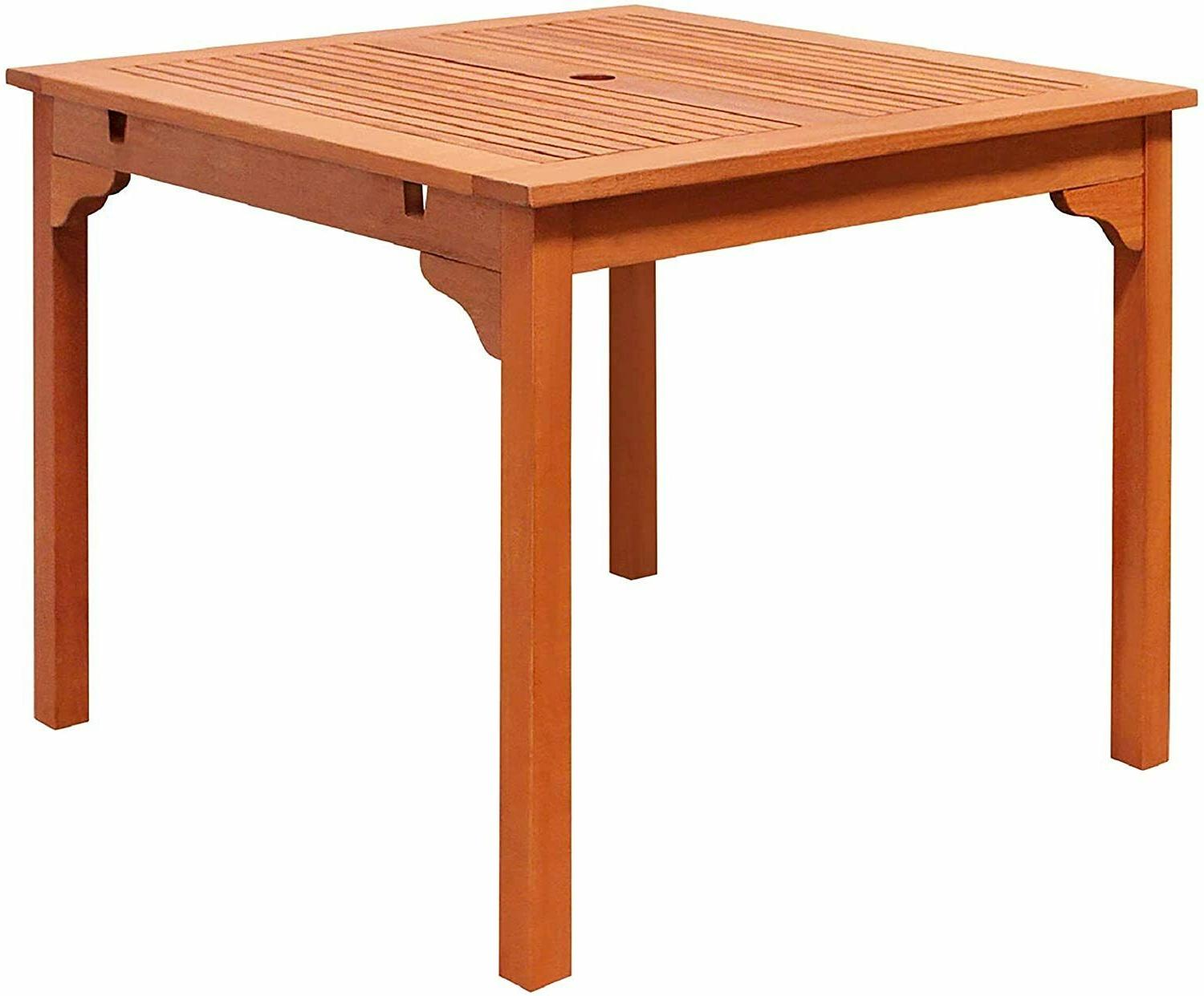 Outdoor Stacking Table Dining Patio Yard Garden Lawn Solid W
