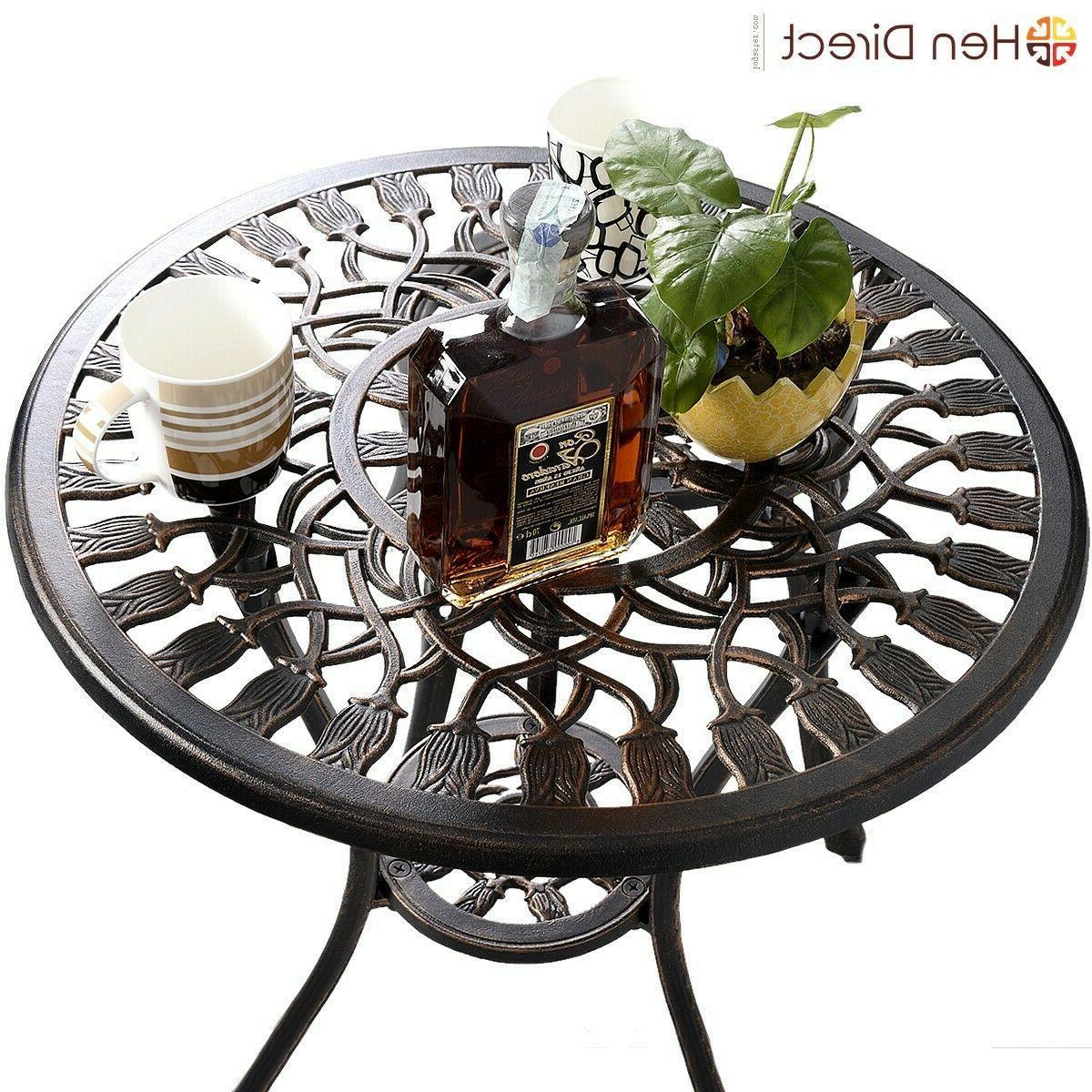 Outdoor Table Chairs Set Durable Garden Patio Decor Hole