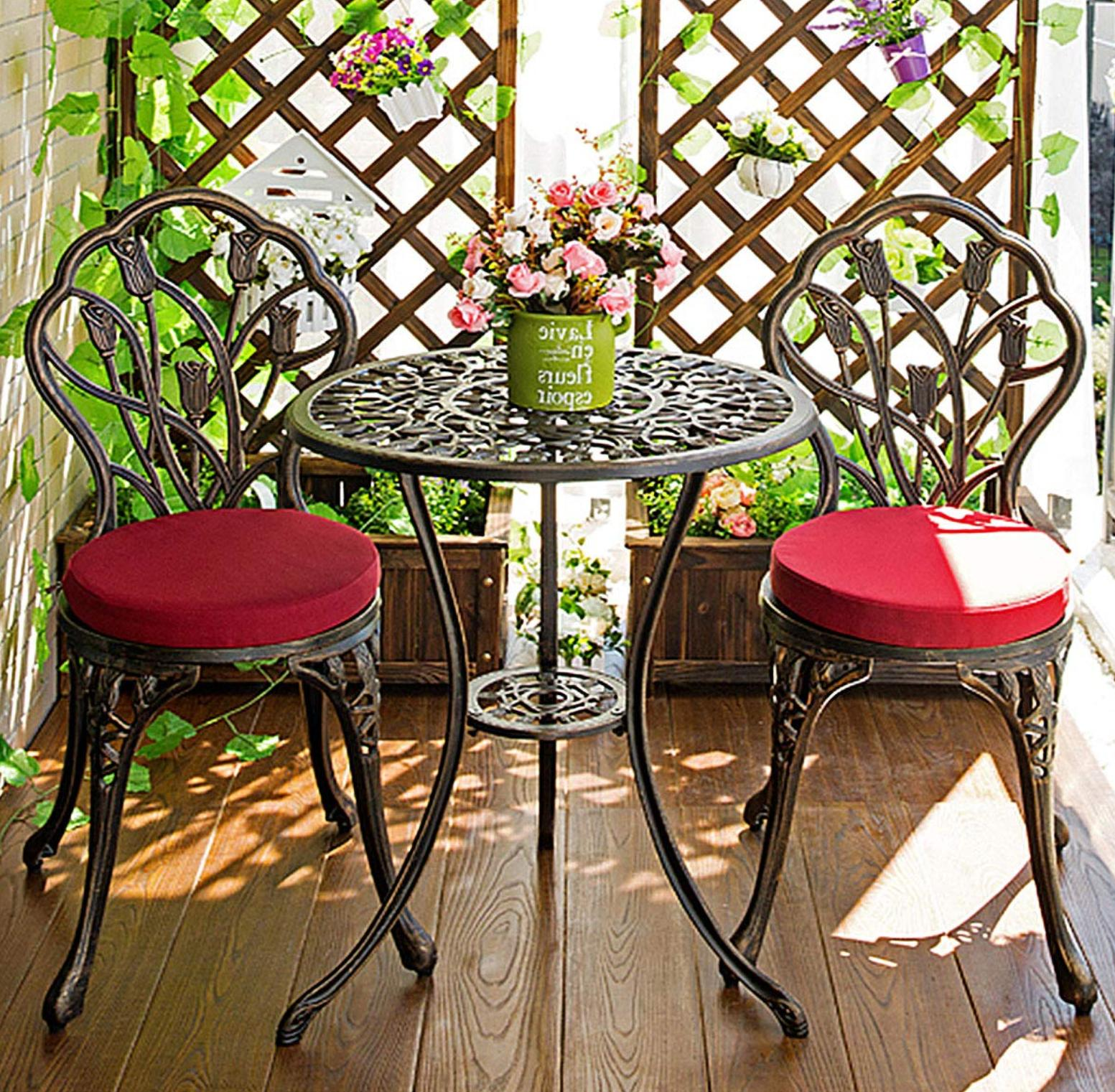 Outdoor Table and Chairs Bistro Garden Decor Hole