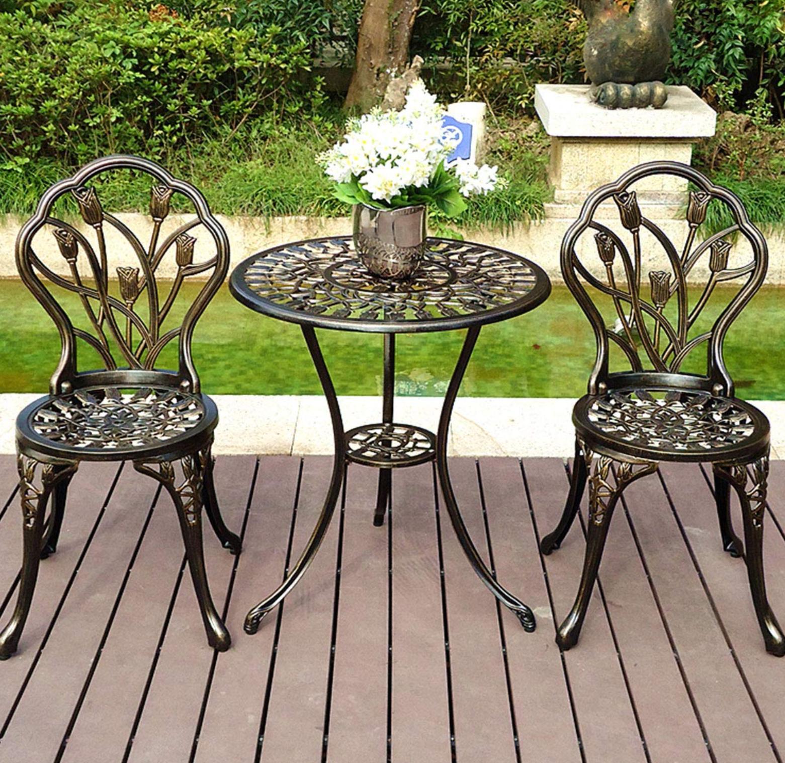 Outdoor Chairs Garden Patio w/Umbrella Hole