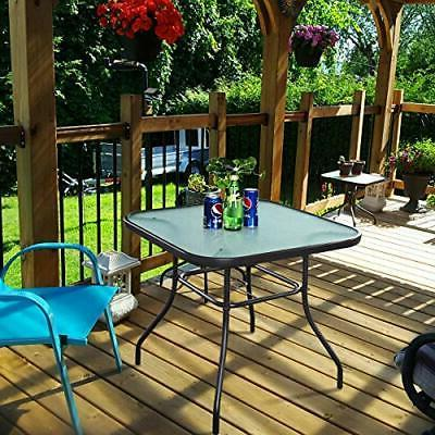 Patio with Hole Tables Deck